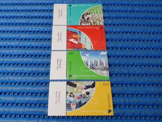 2X Singapore's Globalisation Journey 2013 Commemorative Stamp Issue
