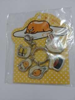日本正版 蛋黃哥 鎖匙扣或掛飾