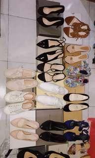 Sepatu,heels,wedges
