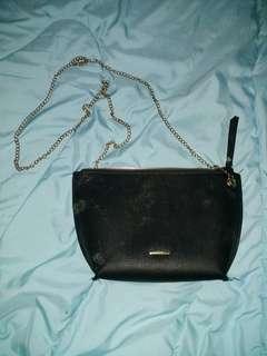 tas bershka bag hitam black