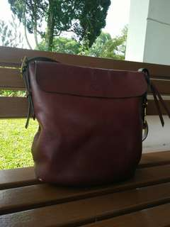 Fossil Haven Bucket Maroon Large