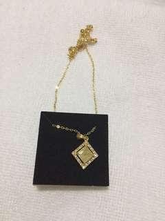 Necklace topaz birthstone