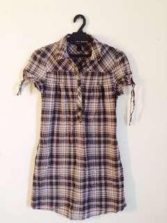 Mango (MNG) Casual Sportswear Checkered Shirt