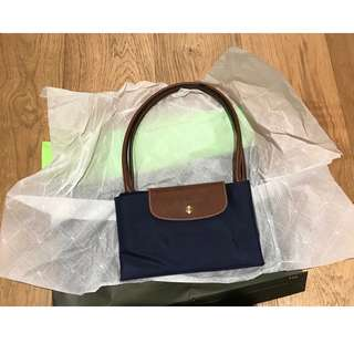BNWT Longchamp Le Pliage Navy Nylon Tote Bag - L1899089 (purchased from Hunt)
