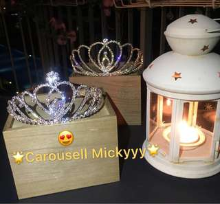 Tiara / Wedding / ROM / D&D / Event / Hens Night / Make Up / Birthday / Cinderella / Princess (Ready Stock)
