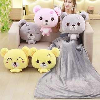 3 in 1 Bear Cushion, Blanket And Hand Warmer