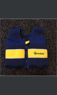 Wave Floating Vest With Detachable Floats 游泳浮衣背心 8舊發寶膠可以拆出