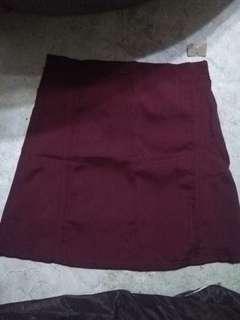 Maroon a line skirt