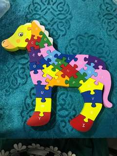 Giraffe Wooden Puzzle