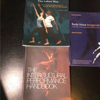 Set of Physical Actor's Training Books