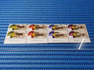 2X Singapore 40 Years of National Service 1967 -2007 Commemorative Stamp Issue