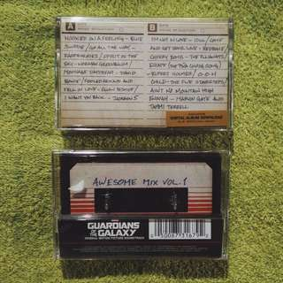 Guardians of the Galaxy : Awesome Mix Vol. 1 Cassette Tape / Kaset