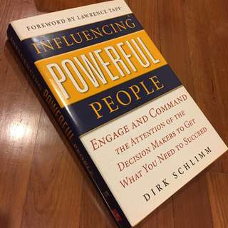 (Save $18, 55% Off) Influencing Powerful People by Dirk Schlimm [Hardback] (U.P. $33)