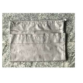 1 bolster case grey cotton