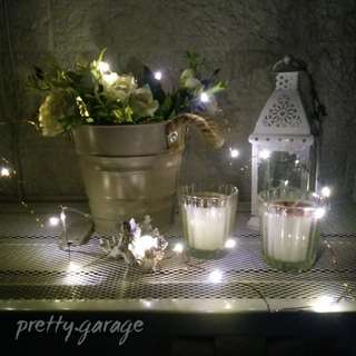 2M Warm White Rose Gold Wire LED Fairylights