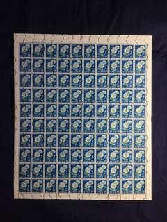 Japan 1967-1969 2nd Nippon Series 15 Yen(¥15) Full Sheet of 100