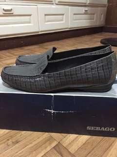 Sebago Mayfair Moc Croc shoes