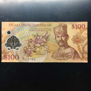 Brunei $100 2013 polymer note