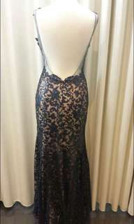 Villoni boutique Annandale, Navy and Nude Lace