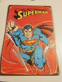 Metal Superman Sign - 20 cm x 30 cm