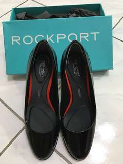 🚚 Rockport 全方位動能高跟鞋 粗跟鞋 漆皮