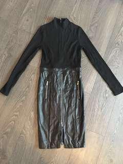 Mendocino Dress Size Small / Medium Leather Look