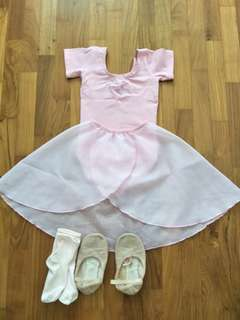 Ballet shirt and shoes with socks
