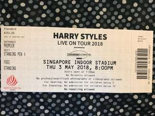 Harry Styles Concert Ticket x 1