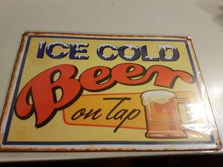 Brand New Beer On Tap Metal Sign