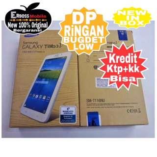 Samsung Tab 3V Resmi Cash/kredit Dp 500rb ditoko Promo ktp+kk bisa
