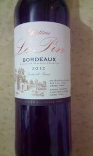 Fine french Bordeaux wine 2012