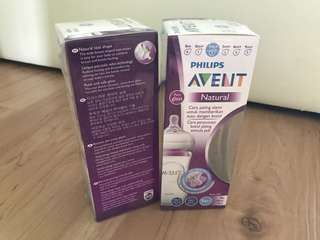 Avent Glass Bottle 240ml x2