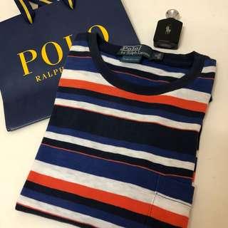 🚚 Polo Ralph Lauren線條T/青年版XS號/ 165/88A