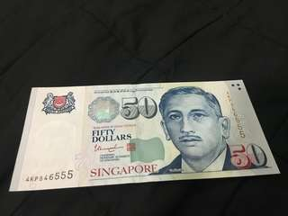 Special number $50 notes