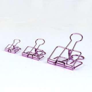 instock! - Purple Binder Clips