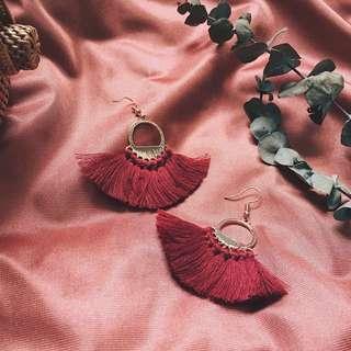 (NEW COLOUR) Edina Boho Fan Tassel Earring