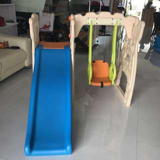Grow n Up Scramble N Slide Play Center including swing