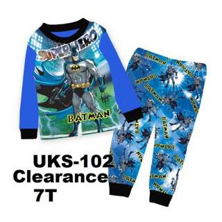 Clearance---  Super Hero Batman Long Sleeve Pyjamas