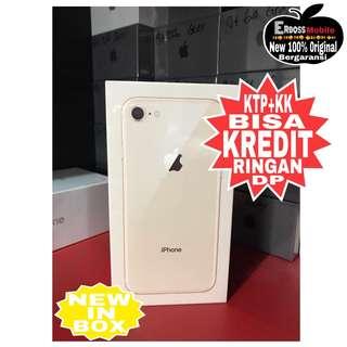Kredit Low Dp 4jt iPhone 8 64GB New in Box Ditoko promo ktp+kk wa;081905288895