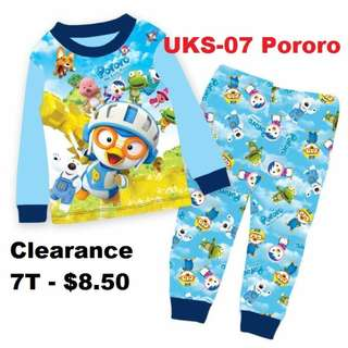 Clearance---  Pororo Long Sleeve Pyjamas