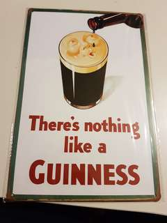 Brand New Guinness Metal Sign