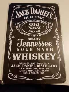 Brand New Jack Daniel's Metal Sign