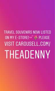🆕🆕Travel Souvenirs now listed! Feel free to drop an offer☺️