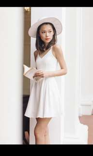 PRELOVED THREAD THEORY SINGAPORE LIKE NEW DRESS SKATER WHITE BUY $39