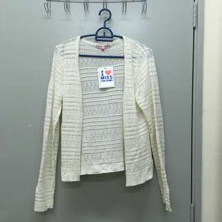 Voir Jeans Knitted Lace Cardigan
