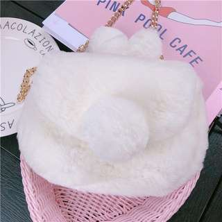 BN Cute Fluffy Bunny Sling Bag