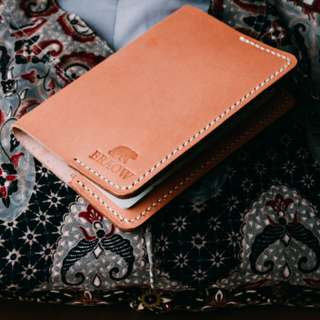 Handcrafted Full Grain Premium Leather Passport Cover | Handstitched | Handmade