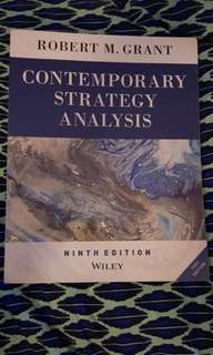 Contemporary Strategy Analysis 9th Edition