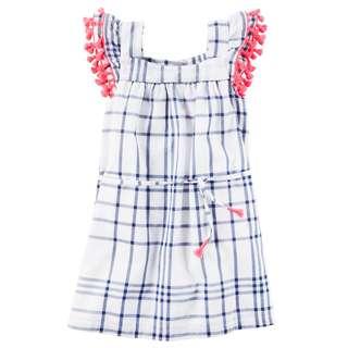 Carter's Window Pane Tassel Dress