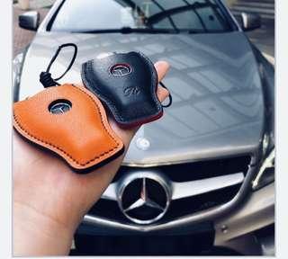 Bespoke Key Pouch In Hermès Chèvre Leather